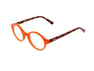 Óculos Vogart Clip-On VGK-A2 Laranja Redonda