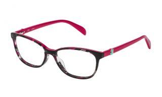 Óculos Tous VTO979 Rosa/Vermelho-Púrpura Retangular