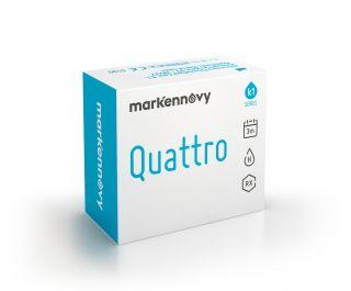 Lentes de contacto Quattro Quattro Spheric diâmetro 13,00 mm 6 unidades