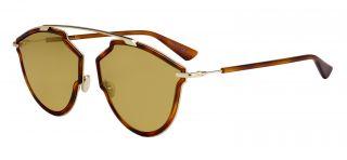 Óculos de sol Christian Dior SOREALRISE Castanho Retangular