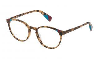 Óculos Furla VFU251 Castanho Redonda