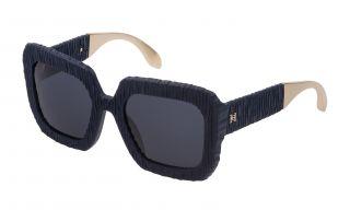 Óculos de sol Carolina Herrera New York SHN600 Azul Quadrada