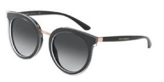 Óculos de sol D&G DG4371 Preto Redonda