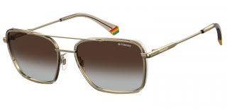 Óculos de sol Polaroid PLD6115/S Dourados Quadrada