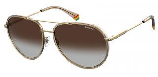 Óculos de sol Polaroid PLD6116/G/S Dourados Aviador