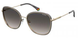 Óculos de sol Polaroid PLD6117/G/S Dourados Quadrada