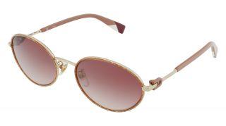 Óculos de sol Furla SFU458 Dourados Ovalada