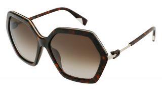 Óculos de sol Furla SFU460 Preto Quadrada