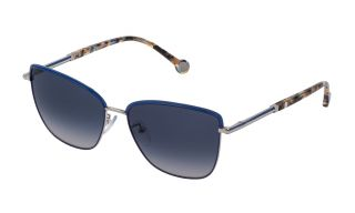 Óculos de sol CH Carolina Herrera SHE160 Prateados Borboleta