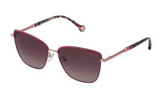 Óculos de sol CH Carolina Herrera SHE160 Dourados Borboleta