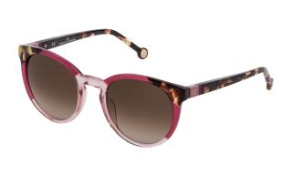 Óculos de sol CH Carolina Herrera SHE845W Rosa/Vermelho-Púrpura Redonda