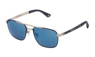 Óculos de sol Police SPL890 Prateados Aviador
