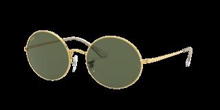 Óculos de sol Ray Ban 0RB1970 OVAL Dourados Retangular