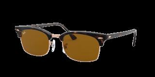 Óculos de sol Ray Ban 0RB3916 CLUBMASTER SQUARE Castanho Retangular