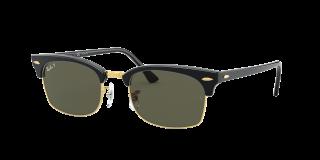 Óculos de sol Ray Ban 0RB3916 CLUBMASTER SQUARE Preto Retangular