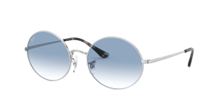 Óculos de sol Ray Ban 0RB1970 OVAL Prateados Retangular