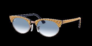 Óculos de sol Ray Ban 0RB3946 CLUBMASTER OVAL Beige Ovalada
