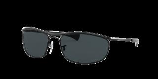 Óculos de sol Ray Ban 0RB3119M OLYMPIAN I DELUXE Preto Ovalada