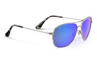 Óculos de sol Maui Jim B247 CLIFF HOUSE Prateados Aviador