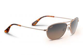 Óculos de sol Maui Jim HS245 CLIFF HOUSE Dourados Aviador
