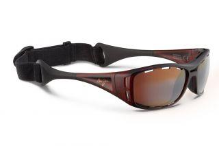 Óculos de sol Maui Jim H410 WATERMAN Dourados Retangular