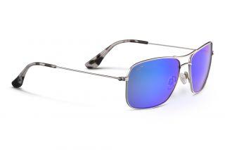 Óculos de sol Maui Jim B246 WIKI WIKI Prateados Retangular