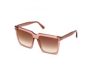 Óculos de sol Tom Ford FT0764 SABRINA-02 Rosa/Vermelho-Púrpura Quadrada