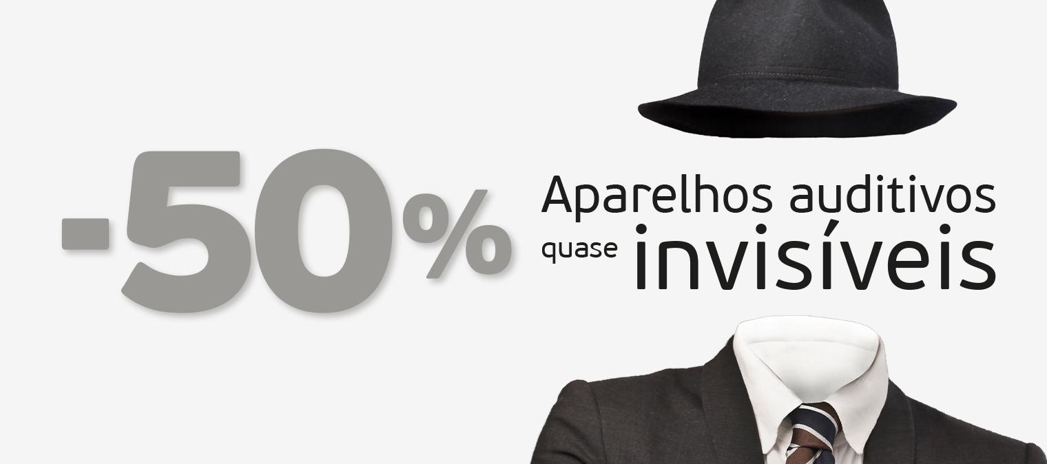 Aproveite -50% de promoção em aparelhos auditivos quase invisíveis!