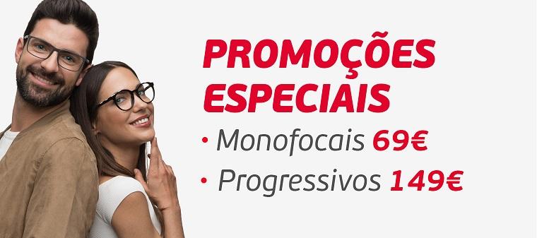 Promoções em óculos