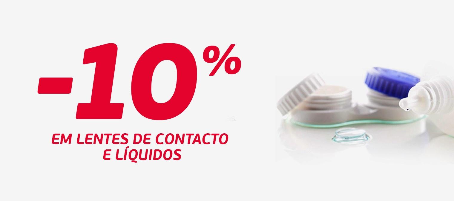 -10% em lentes de contacto