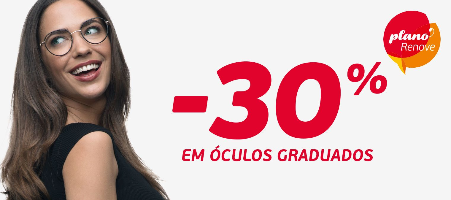 -30% em óculos graduados