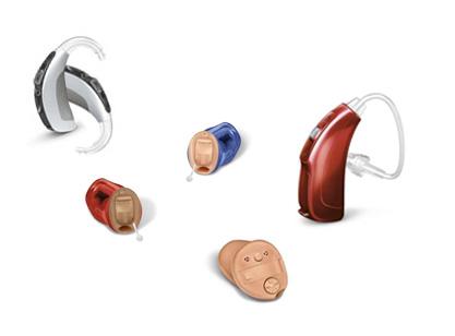 Diferentes tipos de aparelhos auditivos