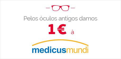 Pelos óculos antigos damos 1€ à medicusmundi
